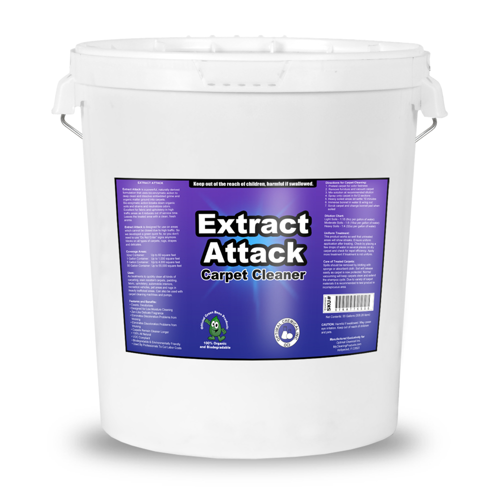 Extract Attack Organic Carpet Cleaner 5 Gallon